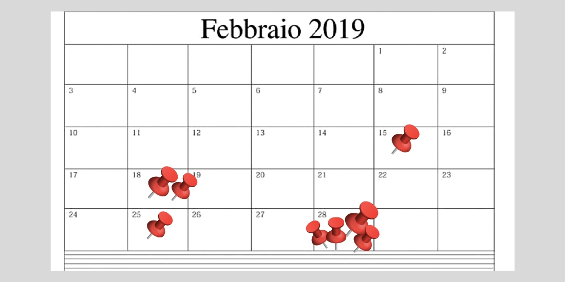 Calendario Fiscale 2019.Scadenze Fiscali Febbraio 2019 Le Date Da Segnare Sul